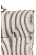 Striped seat pad - Mole/Grey striped - Home All | H&M CN 2